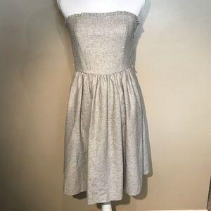Banana Republic wool strapless frill dress